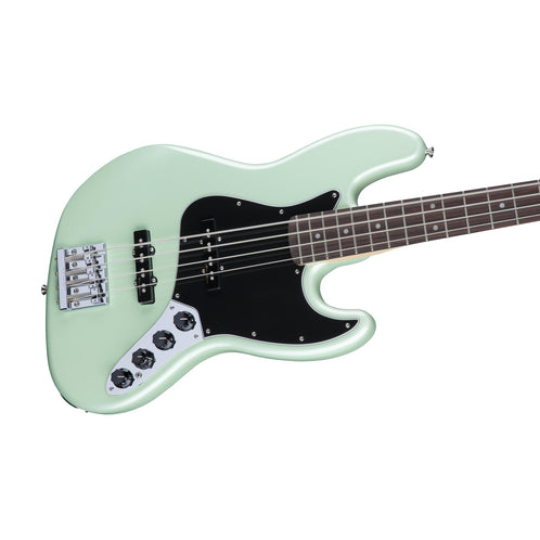 Fender Deluxe Active Jazz Bass Guitar, Pau Ferro, Surf Pearl
