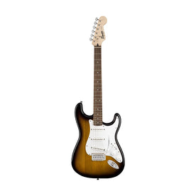 Squier Stratocaster Electric Guitar Pack w/Gig Bag & Frontman 10G Amp, Brown Sunburst, 230V EU