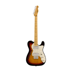 Squier Classic Vibe 70s Telecaster Thinline Electric Guitar, Maple FB, 3-Tone Sunburst