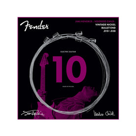 Fender Hendrix Voodoo Child Bullet End Nickel Electric Guitar Strings, 10-38