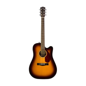 Fender CD-140SCE Dreadnought Acoustic Guitar w/Cutaway & Electronics & Case, Sunburst