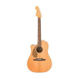 Fender Sonoran SCE Left-Handed Acoustic Guitar, Natural