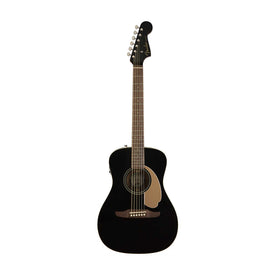 Fender California Malibu Player Small-Bodied Acoustic Guitar, Jetty Black
