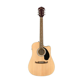Fender FA-125CE Dreadnought Acoustic Guitar, Walnut FB, Natural
