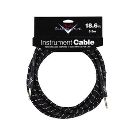 Fender Custom Shop Performance Series 18.6ft Instrument Cable, Black Tweed