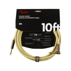 Fender Deluxe Series Angled Instrument Cable, 10ft Tweed