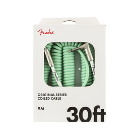 Fender Original Series Coil Cable, 30ft, Seafoam Green