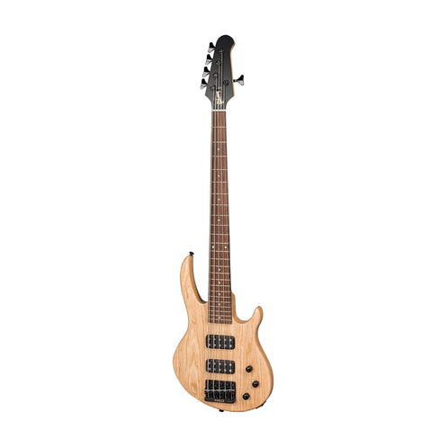 Gibson 2018 EB 5-String Bass Electric Guitar w/Case, Natural Satin