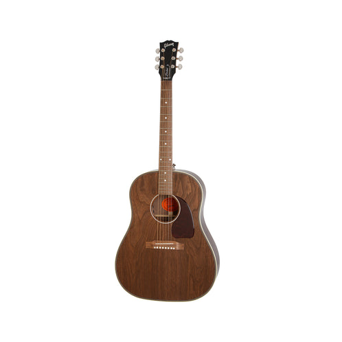 Gibson 2018 J-45 Herringbone All Walnut Acoustic Guitar w/Case, Antique Natural