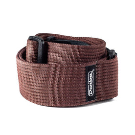 Jim Dunlop D27-01BR Ribbed Cotton Guitar Strap, Chocolate