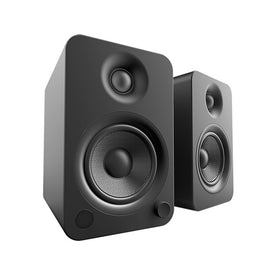Kanto YU4 Powered Speakers with Bluetooth and Phono Preamp, Matte Black