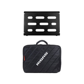 MONO Pedalboard Small, Black + Club Accessory Case 2.0, Black