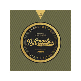 D'Angelico Electrozinc Strings, Rock 10-46- Plain Third String
