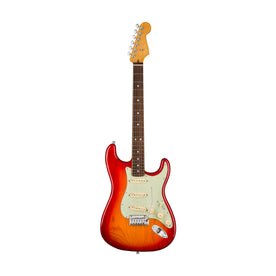 Fender American Ultra Stratocaster Electric Guitar, RW FB, Plasma Red Burst