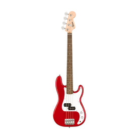 Squier Mini Precision Bass Guitar, Laurel FB, Dakota Red