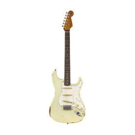 Fender Custom Shop 2019 Limited Roasted Tomatillo Strat Relic Electric Guitar, Aged Tomatillo Green