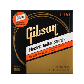 Gibson Vintage Reissue Electic Guitar Strings, Medium, .011-.050