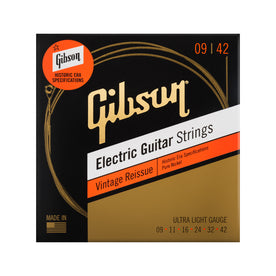 Gibson Vintage Reissue Electic Guitar Strings, Ultra Light, .009-.042