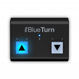 IK Multimedia iRig Blueturn Backlit compact Bluetooth LE page turner/scroller for iOS, Android & Mac
