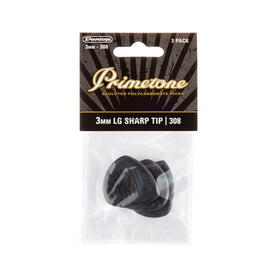 Jim Dunlop 477P308 Primetone Large Pointed Tip Pick, 3mm, 3-Pick Player's Pack