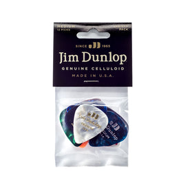 Jim Dunlop PVP106 Variety Celluloid Pick, Medium, 12-Pack
