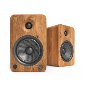 Kanto YU6 Powered Speakers with Bluetooth and Phono Preamp, Walnut