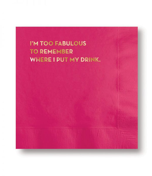 foil printed cocktail napkins
