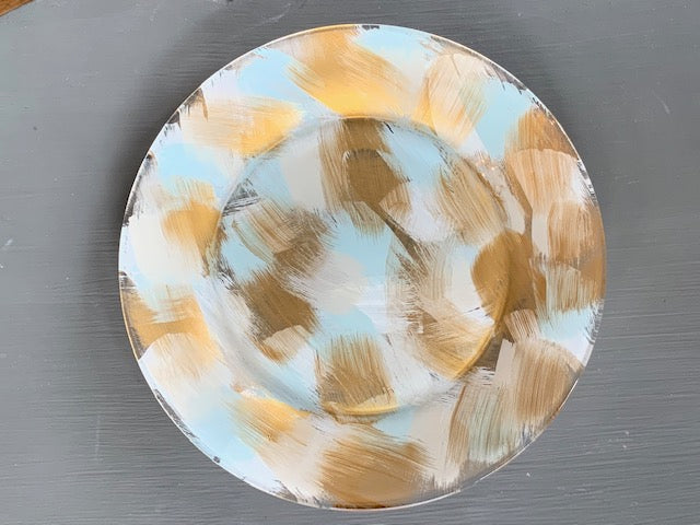 hand painted glass plate
