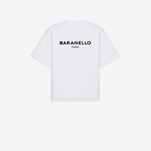 REGULAR FIT COTTON JERSEY T-SHIRT WITH SIGNATURE LOGO - WHITE
