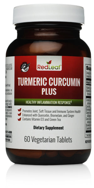 Red Leaf Turmeric Curcumin Plus - 100% Natural - 60 Vegetarian Tablets