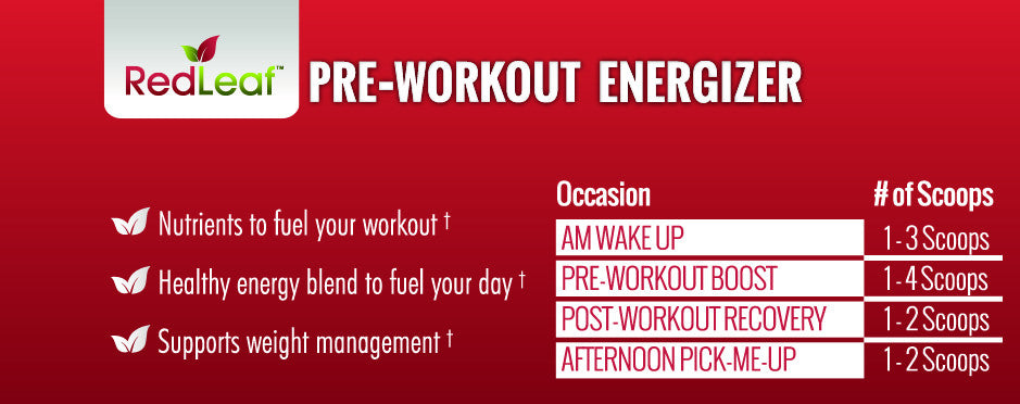 Red Leaf Pre-Workout Energizer - Single Bottle (30 servings)