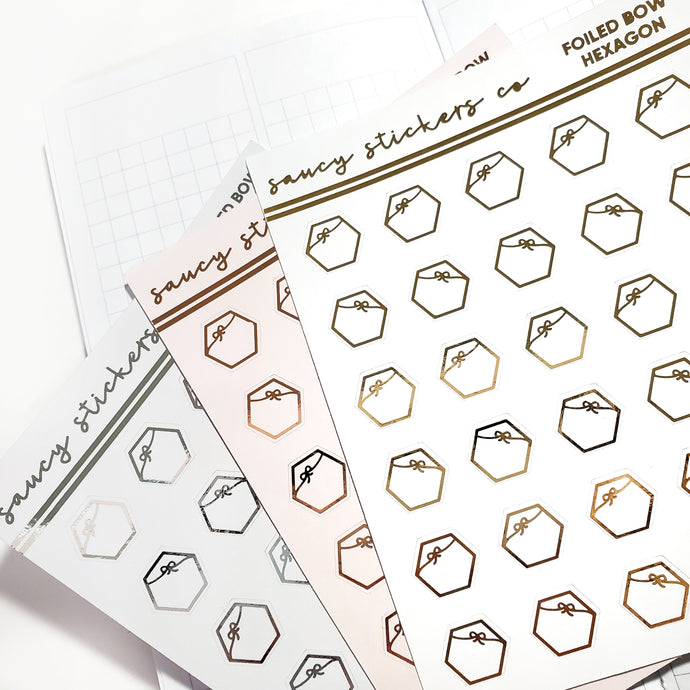Foiled Bow Hexagons