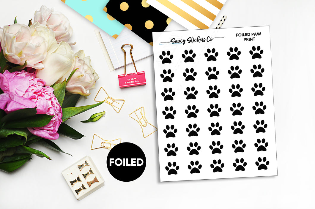 Paw Print | Foiled Icon