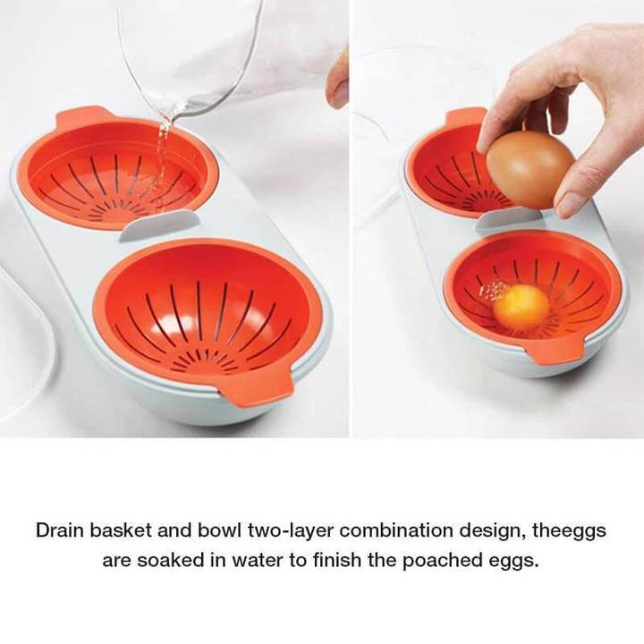 Portable egg cooker for microwave