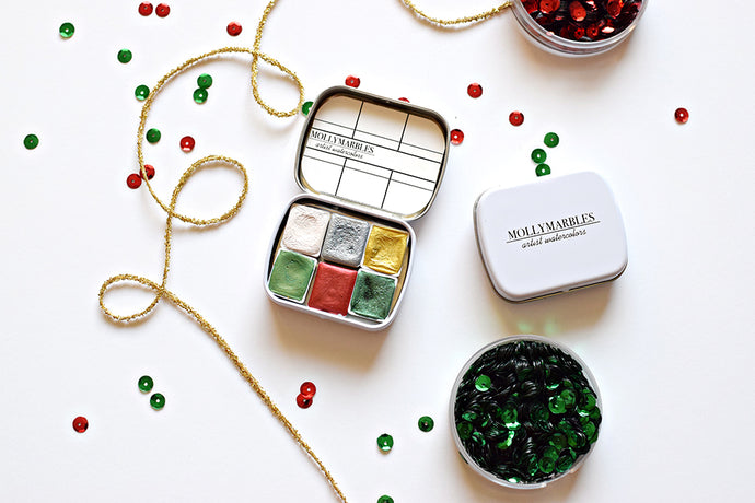 Holiday Handmade Watercolor Set