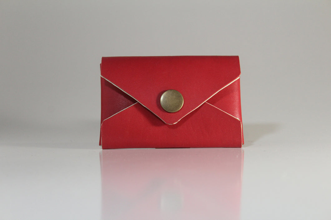 Cherry red envelope card case