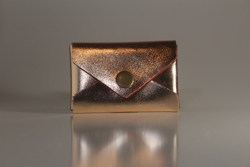 Rose gold envelope card case