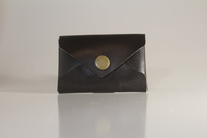 Chocolate brown envelope card case