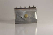 Load image into Gallery viewer, Pewter envelope card case with spikes