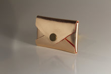Load image into Gallery viewer, Rose gold envelope card case