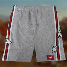 Load image into Gallery viewer, Grey Cotton Jersey Shorts with Appliqué