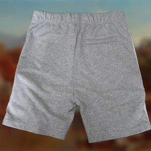 Grey Cotton Jersey Shorts with Appliqué