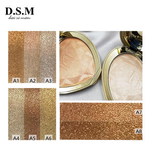 D.S.M makeup palette Professional Highlighter Makeup Face Powder Highlighting Concealer Cosmetics Eyes Glow Kit Palette Bronzer and Highlighter