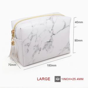 Womens Cosmetic Bags Marble Multi-Function Purse Travel Makeup Pouch Toiletry Storage Bag