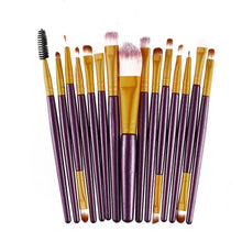 Load image into Gallery viewer, 15pcs/set Makeup Brushes Sets Kit Eyelash Lip Foundation Powder Eye Shadow Brow Eyeliner Cosmetic Make Up Brush Beauty Tool