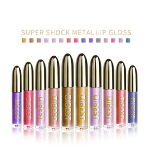 Lips Makeup Gloss Magic Lipstick Glitter Lip Black Purple Blue Gold Long Lasting Make Up Waterproof Metallic Liquid Lipsticks