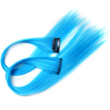 Load image into Gallery viewer, Hairpiece Straight Wavy Full Head Dip Dye Clip-in Synthetic Hair Extensions