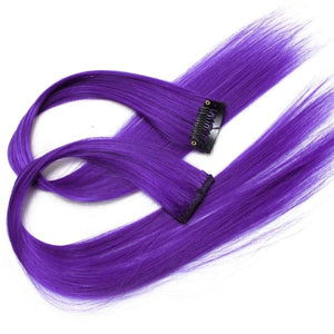 Hairpiece Straight Wavy Full Head Dip Dye Clip-in Synthetic Hair Extensions