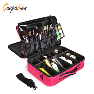 Guapabien Makeup Cosmetic Beauty Case Organizer Toiletry Bag Storage Travel Pouch