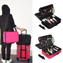 Load image into Gallery viewer, Guapabien Makeup Cosmetic Beauty Case Organizer Toiletry Bag Storage Travel Pouch
